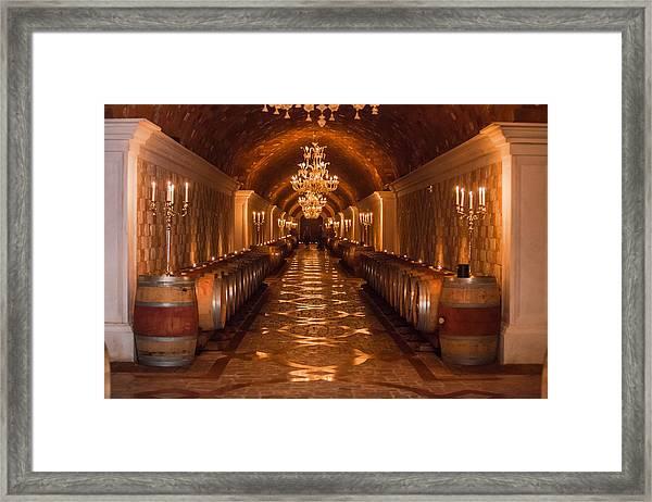 Del Dotto Wine Cellar Framed Print