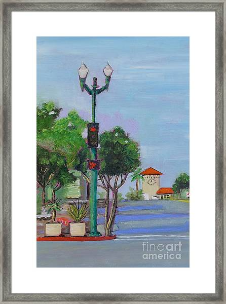 Del Mar And Ole Vista Framed Print