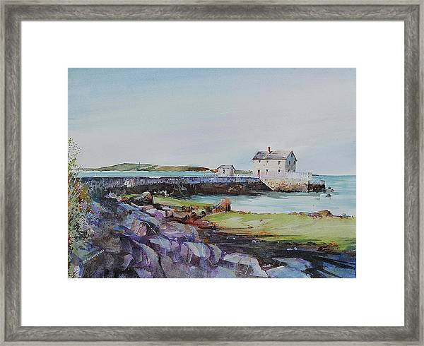 Delano's Wharf At Rock Nook Framed Print