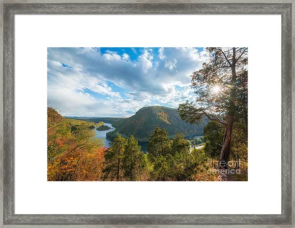 Delaware Water Gap In Autumn Framed Print