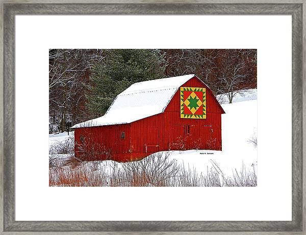 Delectable Mountains Snow Framed Print
