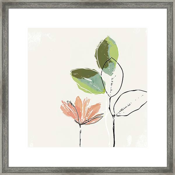 Delicate Flower- Art By Linda Woods Framed Print