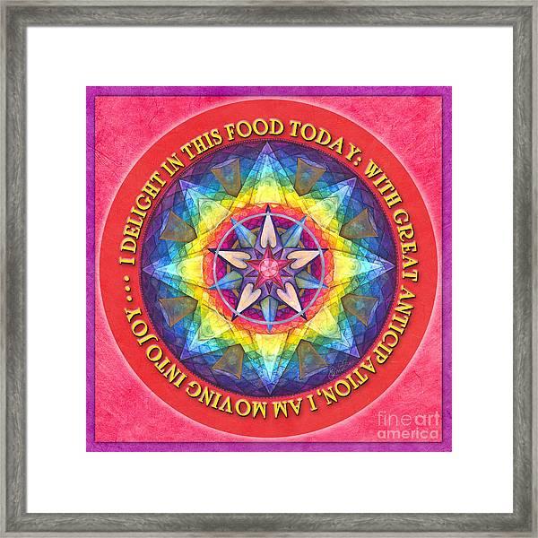 Delight In This Mandala Prayer Framed Print