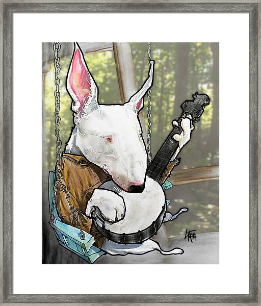 Deliverance Bull Terrier Caricature Art Print Framed Print