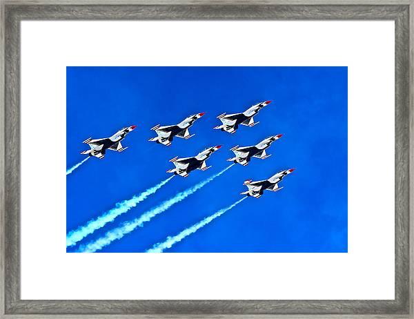 Delta Formation Framed Print