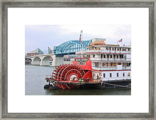 Delta Queen In Chattanooga Framed Print