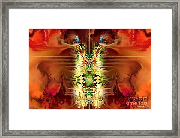 Demon Column By Spano Framed Print