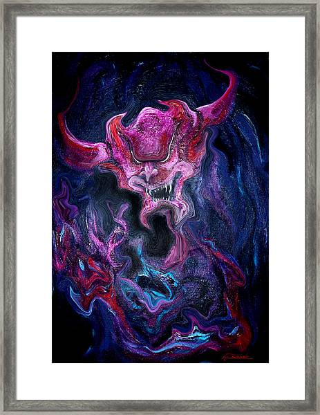 Demon Fire Framed Print