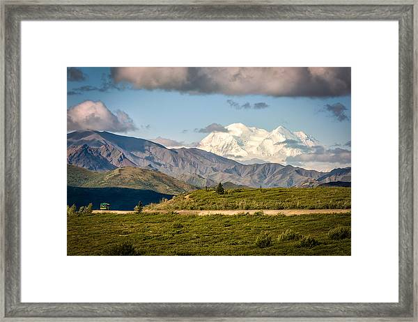 Framed Print featuring the photograph Denali Appears by Claudia Abbott