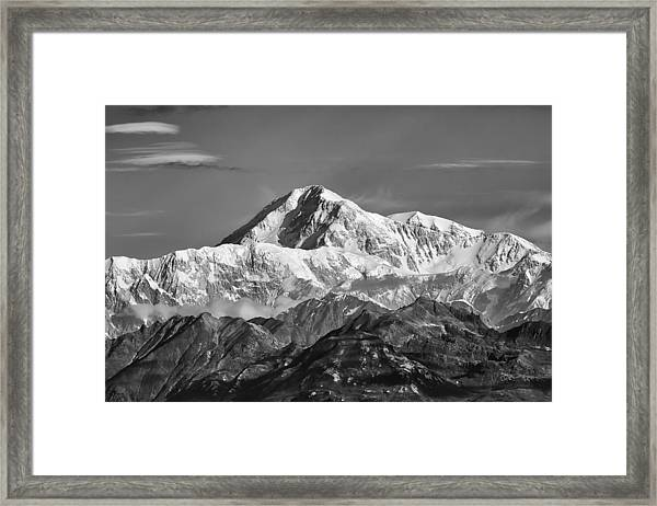 Denali Grey Framed Print