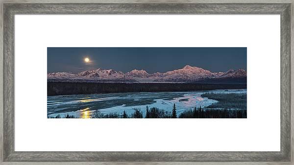 Denali Morning Blue Framed Print