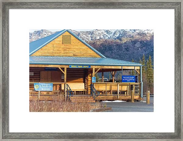Denali View Alaska Framed Print