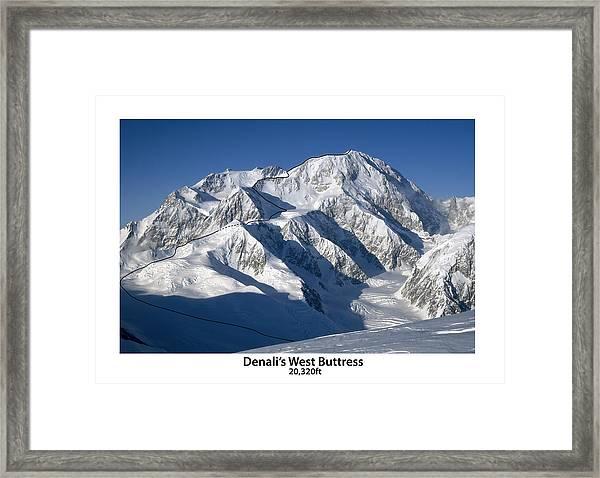 Denali West Buttress Framed Print