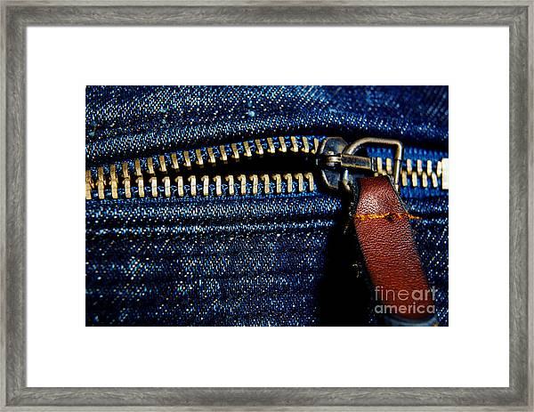 Denim Framed Print