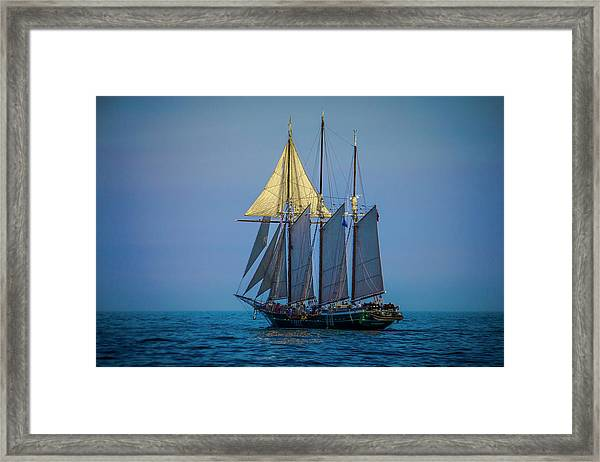 Denis Sullivan - Three Masted Schooner Framed Print