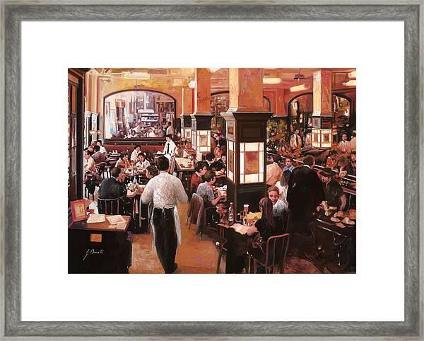 Dentro Il Caffe Framed Print
