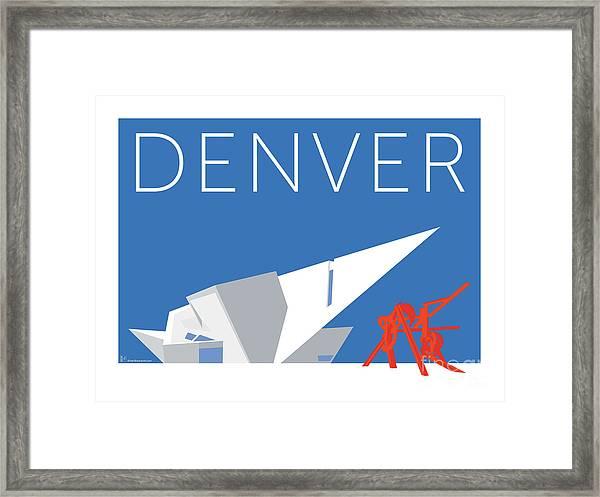 Denver Art Museum/blue Framed Print