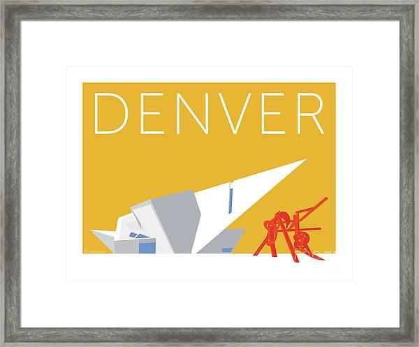 Denver Art Museum/gold Framed Print