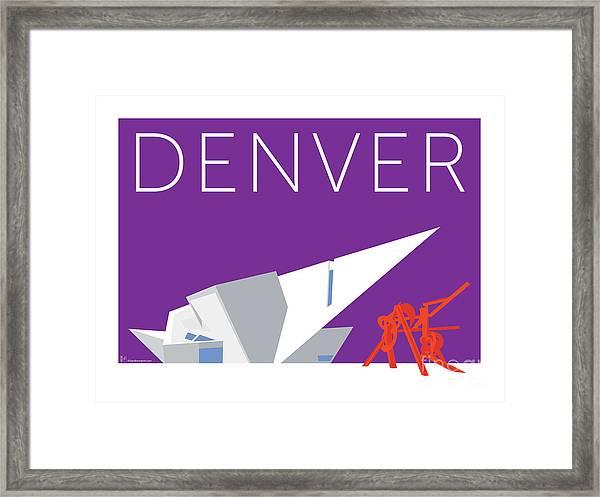 Denver Art Museum/purple Framed Print