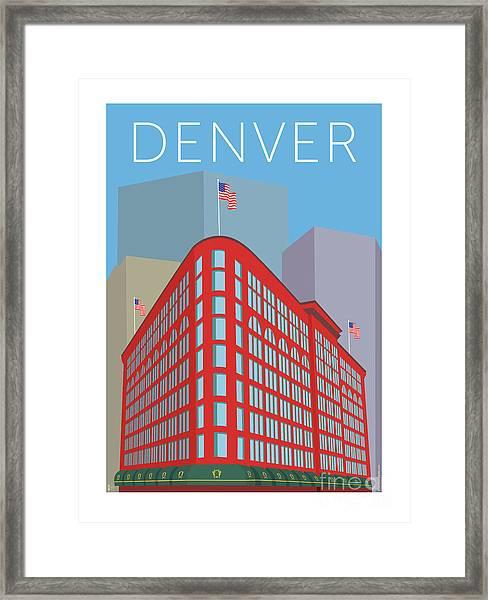 Denver Brown Palace/blue Framed Print