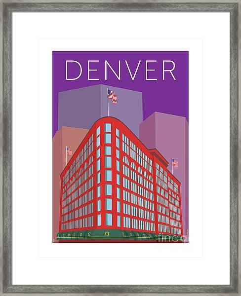 Denver Brown Palace/purple Framed Print
