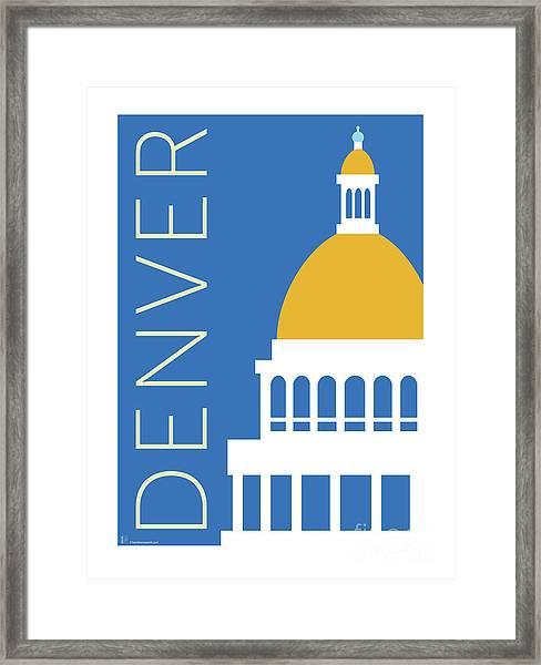 Denver Capitol/blue Framed Print