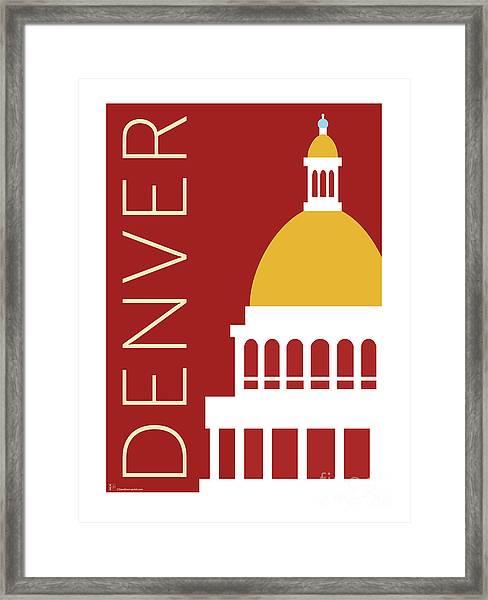 Denver Capitol/maroon Framed Print