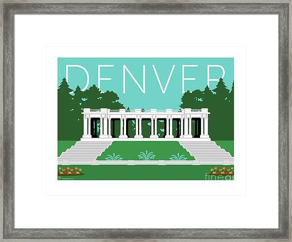 Denver Cheesman Park/lt Blue Framed Print