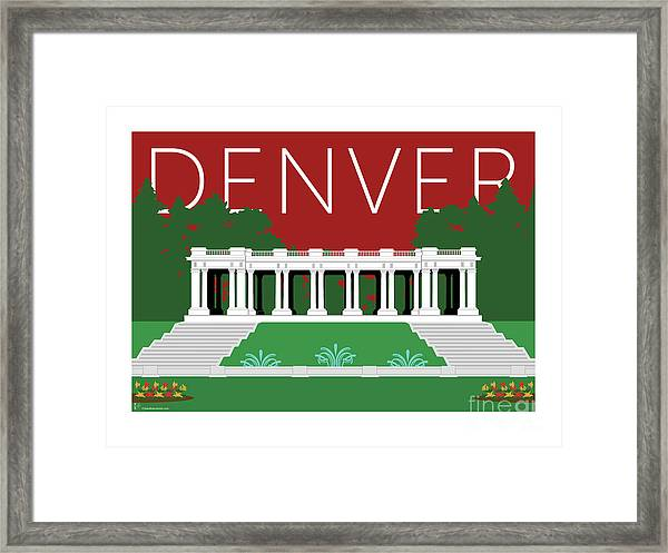 Denver Cheesman Park/maroon Framed Print