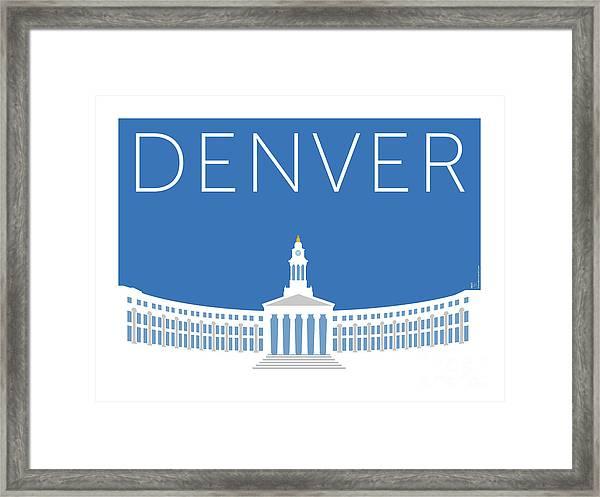 Denver City And County Bldg/blue Framed Print