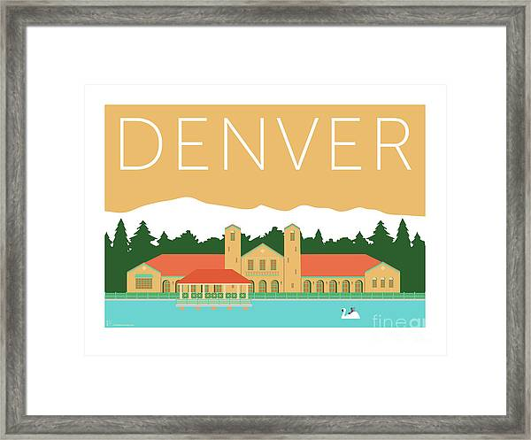 Denver City Park/adobe Framed Print