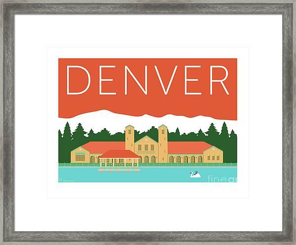 Denver City Park/coral Framed Print