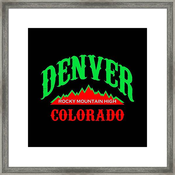 Denver Colorado Rocky Mountain Design Framed Print