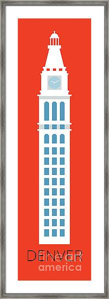 Framed Print featuring the digital art Denver D And F Tower/tall by Sam Brennan