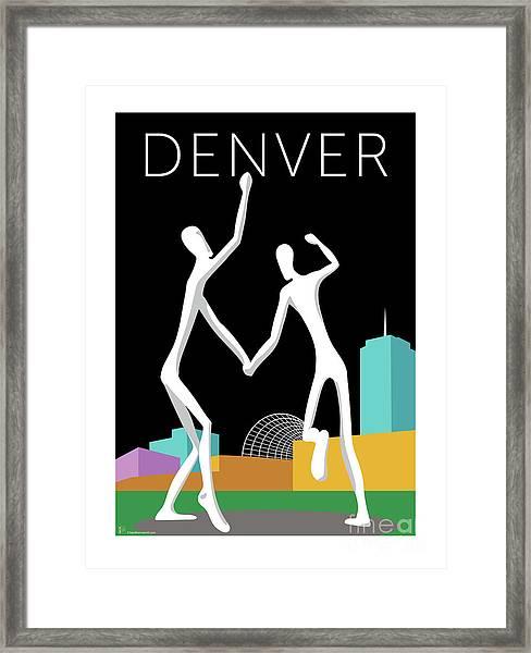 Denver Dancers/black Framed Print