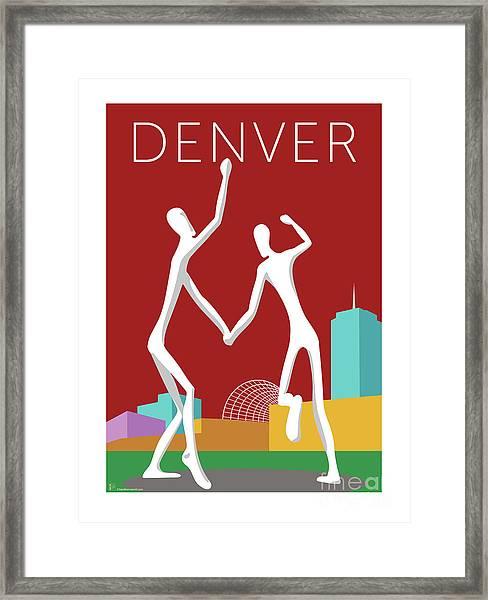 Denver Dancers/maroon Framed Print