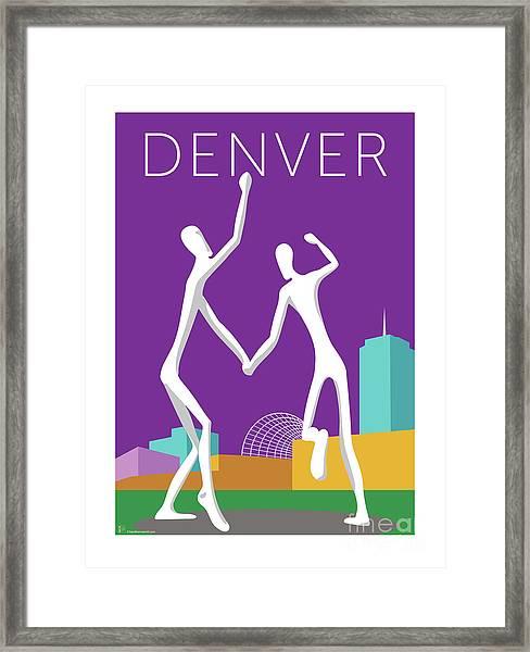 Denver Dancers/purple Framed Print