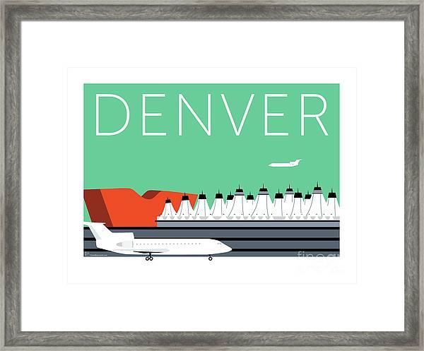 Denver Dia/aqua Framed Print