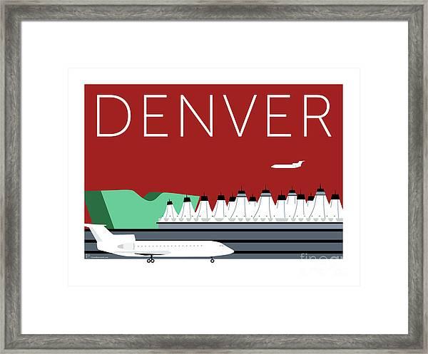 Denver Dia/maroon Framed Print