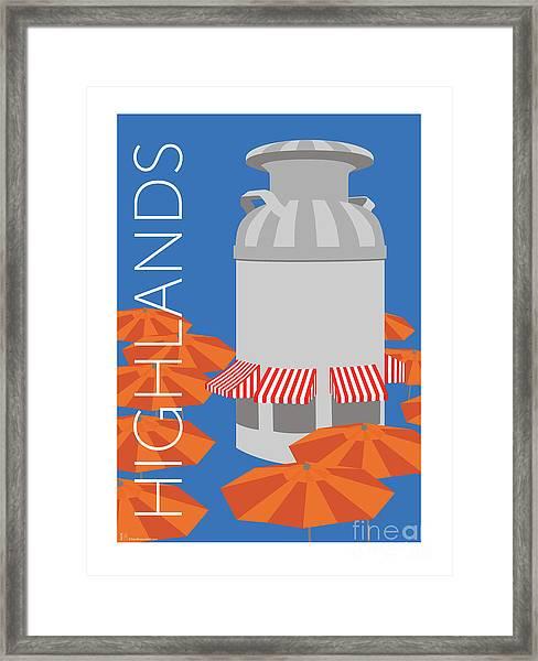Denver Highlands/blue Framed Print