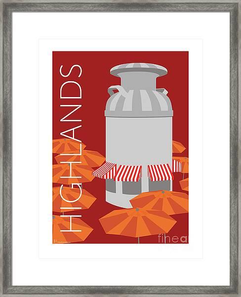 Denver Highlands/maroon Framed Print