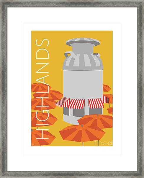 Denver Highlands/gold Framed Print