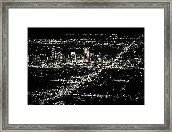 Denver Skyline Framed Print