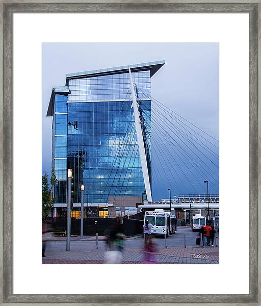 Denver Union Station And Milennium Bridge Framed Print