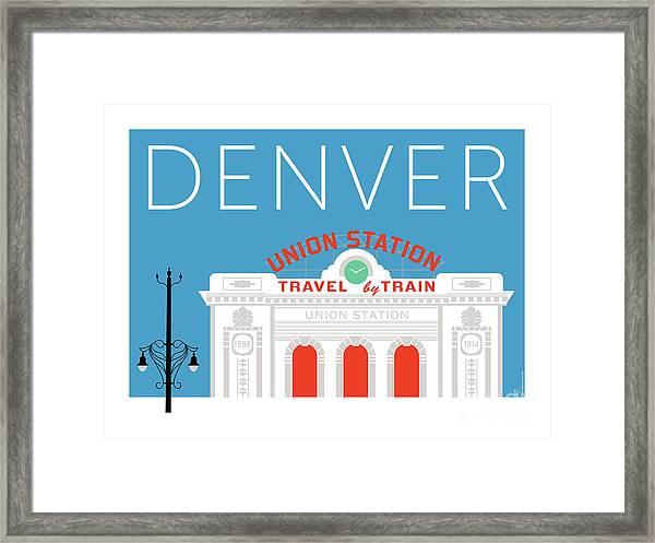 Denver Union Station/blue Framed Print