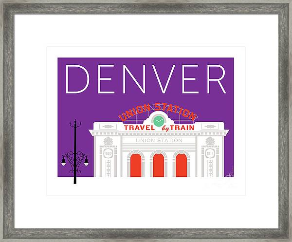 Denver Union Station/purple Framed Print