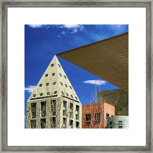 Denver Urban Geometry Framed Print