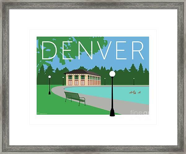 Denver Washington Park/blue Framed Print