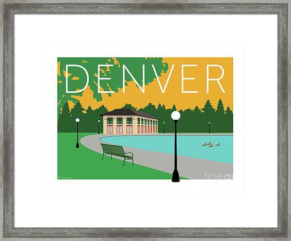 Denver Washington Park/gold Framed Print