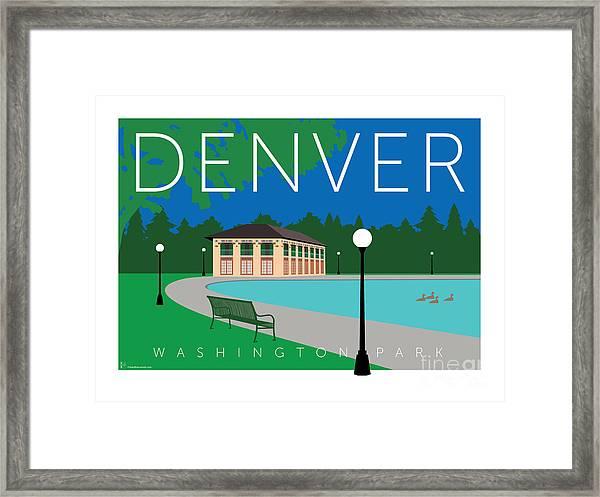 Denver Washington Park Framed Print